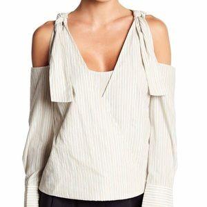 ✨ NWT BCBGMAXAZRIA - 😍 Women XS Cold Shoulder Top